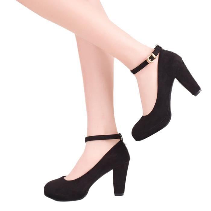 Sexy Douce Chaussures Boucle Escarpins Hauts Conforpo Talons 6648 Croix Femmes Party Occasionnels Salomés AqwAxSz