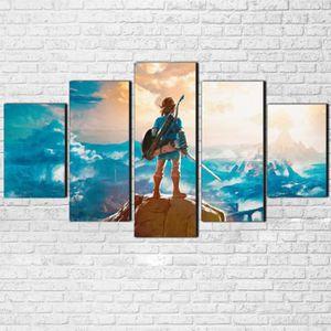 TABLEAU - TOILE 5 pièces toile imprimer peinture légende de Zelda