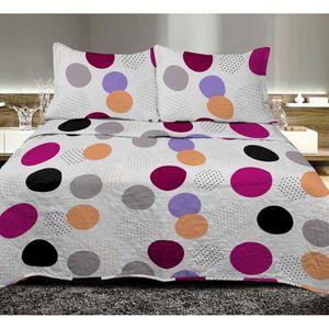 couvre lit jet de lit achat vente couvre lit jet de lit pas cher cdiscount page 3. Black Bedroom Furniture Sets. Home Design Ideas