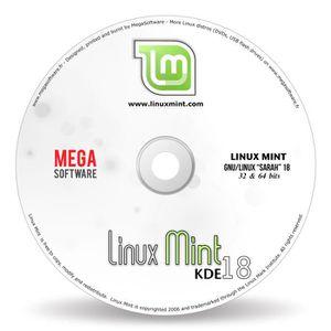 SYSTÈME D'EXPLOITATION Linux Mint 18 Live - KDE - 32 & 64 bits - DVD