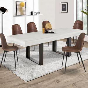 TABLE À MANGER SEULE Table à manger PHOENIX 224 CM bois gris