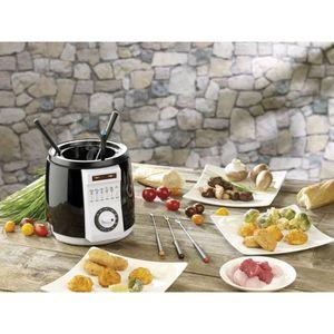 FONDUE ÉLECTRIQUE Mini-friteuse avec service à fondue intégré - 0,9