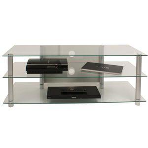MEUBLE TV VCM 14150 Zumbo 110 Meuble TV Aluminium-Verre Arge