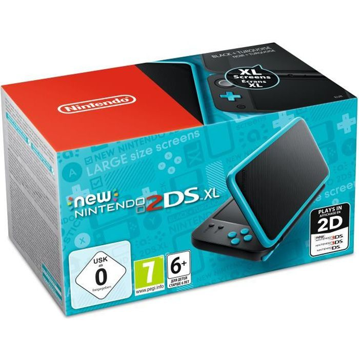 New Nintendo 2DS XL Noire et Turquoise