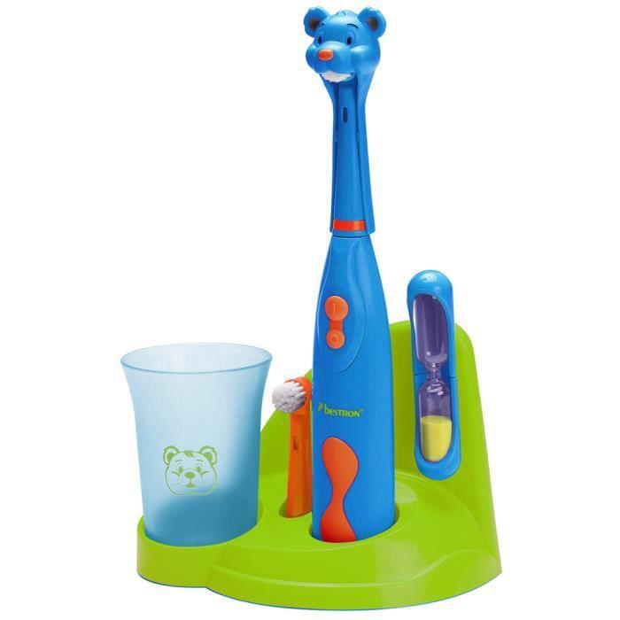 BESTRON DSA3500B Set de brosse à dents Bear à piles pour enfants