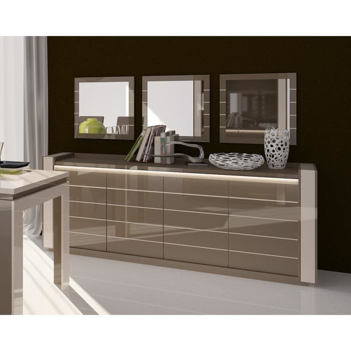 Exceptionnel Buffet LINA Cappuccino Avec LED + 3 Miroirs