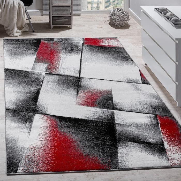 Tapis De Createur Rouge Gris Noir 200x280 Cm Achat Vente Tapis