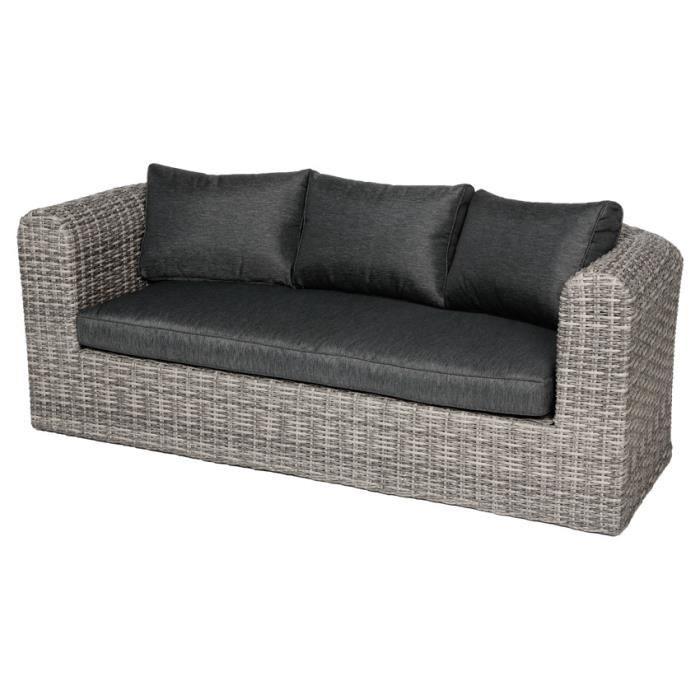 Canapé Libertad Taupe - 3 places - Achat / Vente fauteuil jardin ...