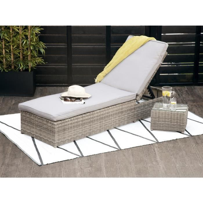 Chaise Longue Resine Tressee Se Rapportant Bain De Soleil Rsine Tresse Portefino Taupe With