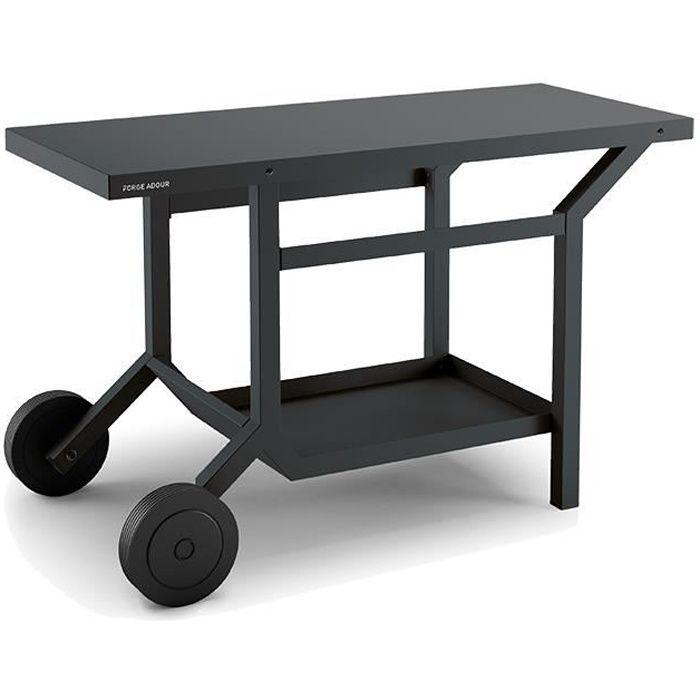 afedaafb1ac277 Table roulante en acier pour plancha Forge Adour - Gris anthracite ...
