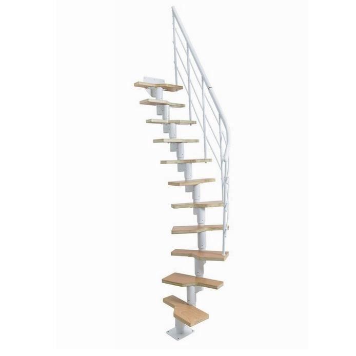 jardipolys - escalier ossature articulée à pas alternés 11 marches