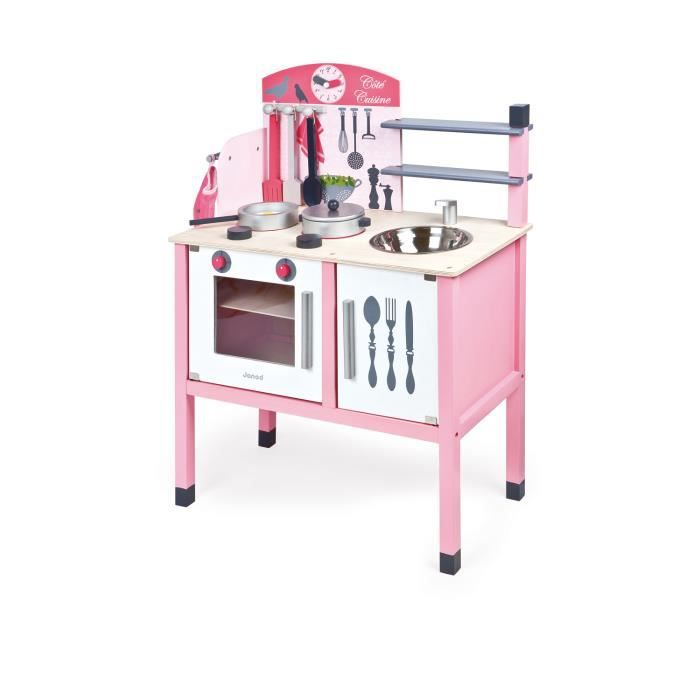 janod maxi cuisine enfant en bois mademoiselle achat vente dinette cuisine cdiscount. Black Bedroom Furniture Sets. Home Design Ideas