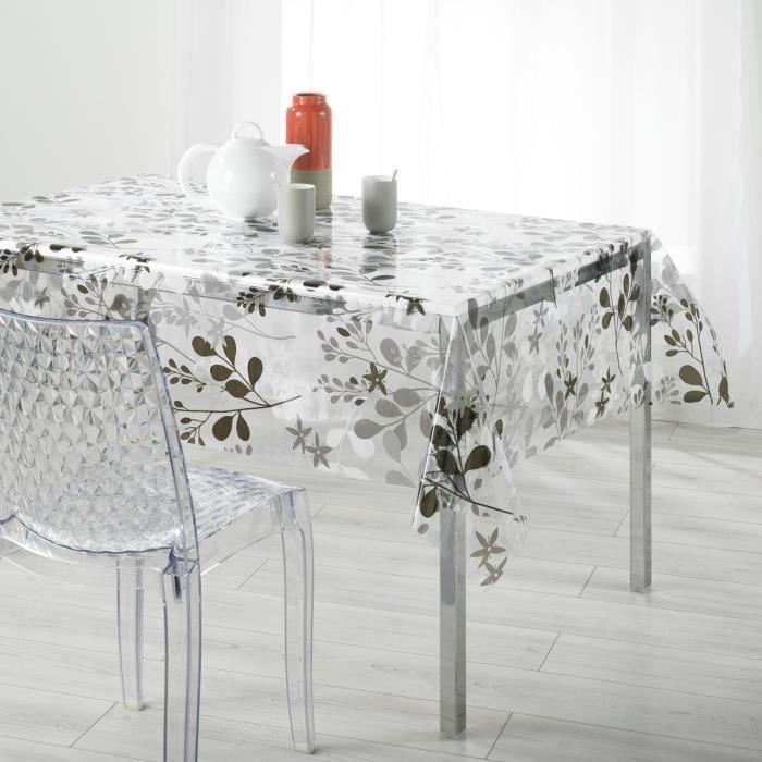nappe rectangulaire transparente avec motifs achat vente pas cher. Black Bedroom Furniture Sets. Home Design Ideas