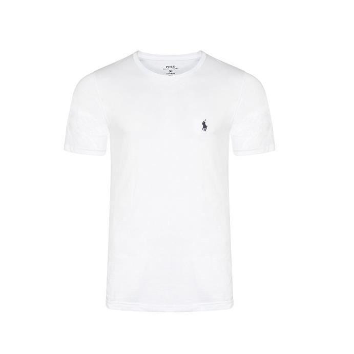 Rond T Col Blanc Lauren Shirt Ralph OXiZuPTk