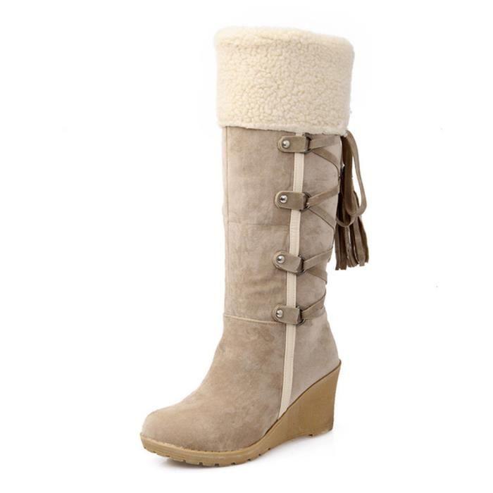 Bottes Femmes Hiver Casual Peluche Boots DTG-XZ023Gris40