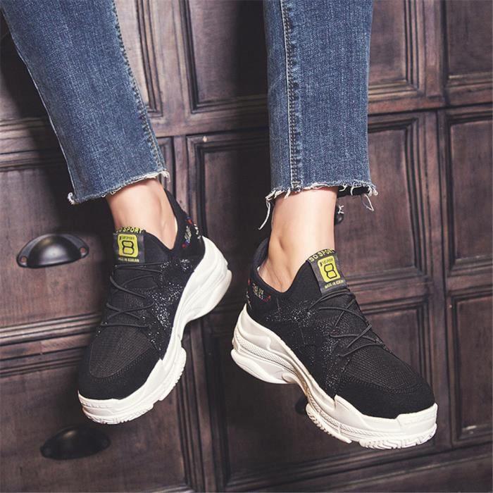 cac5f3ee4d5 Basket Femme Chaussures Respirant Poids Léger De Plein Air De Marque De  Luxe Antidérapant