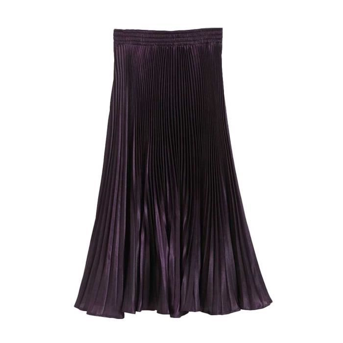 Retro Jupe Longue Femmes Achat Maxi Vintage Violet violet qCdZxw7EZ