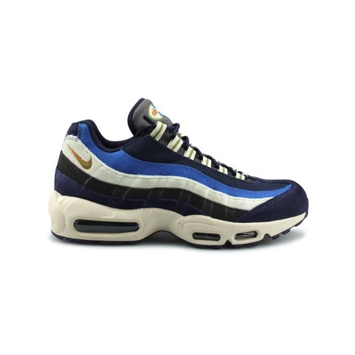 timeless design 14b94 9acc2 Basket Nike Air Max 95 Premium Bleu 538416-404
