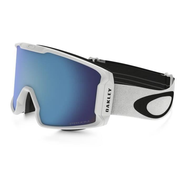 Masque Ski Oakley Line Miner White Prizm Sapphire Bleu - Prix pas ... 6e4f72624755