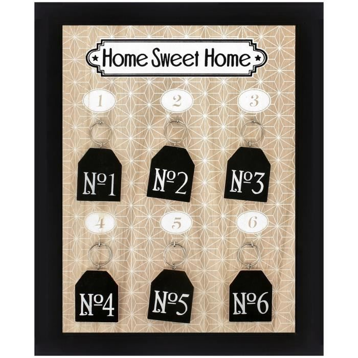 Tableau Cadre Accroche Clés Home Sweet Home Porte Clés Bois Design - Porte clé home sweet home