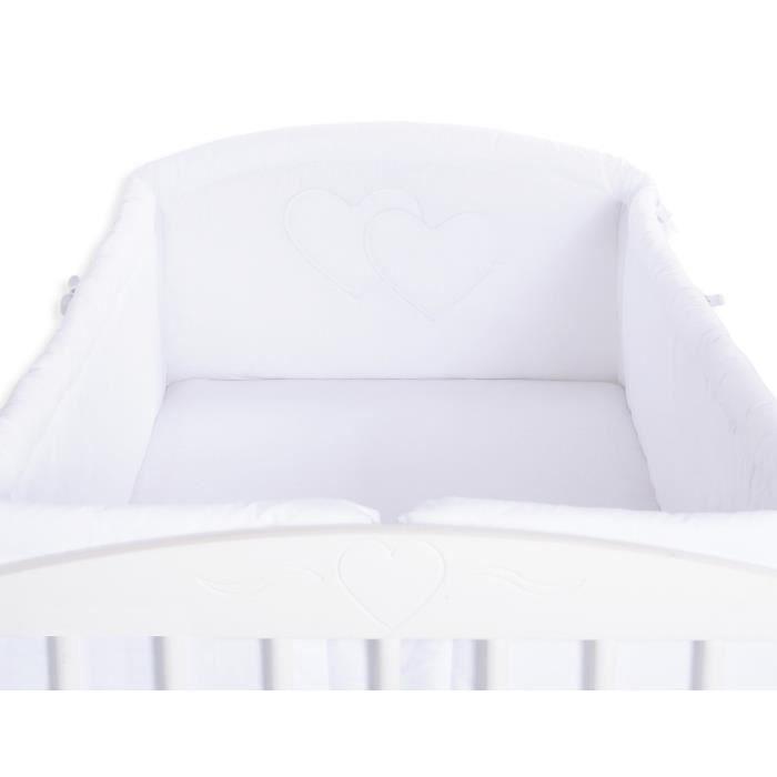 Tour de lit bébé complet 120*60 ou 140*70 blanc à   Achat / Vente