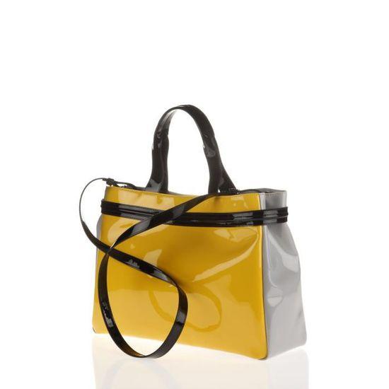 ARMANI JEANS - Sac Cabas Jaune et Gris en PVC - Femme - Achat   Vente sac  shopping 8053320822533 - Cdiscount 8786fff2201