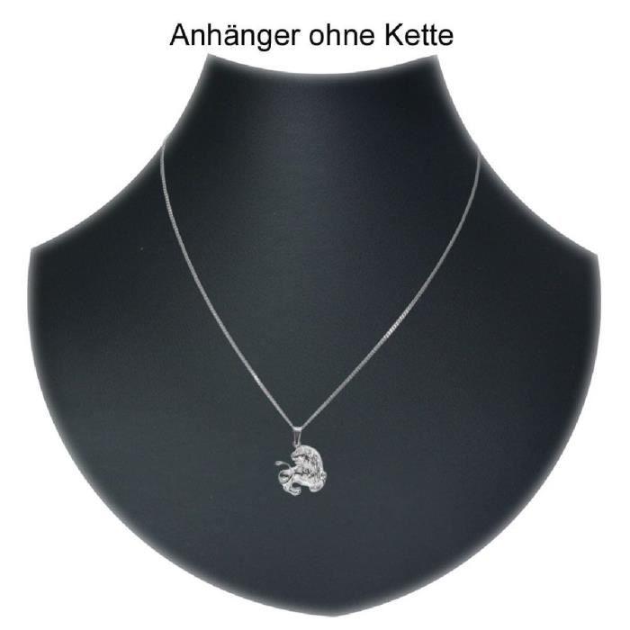 In Collections - 1000200000000 - Pendentif Mixte - Signe Astrologique - Lion - Argent 925-1000 2.60 Gr AI2CG