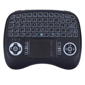 CLAVIER POUR TABLETTE Mini clavier usb sans fil touchpad rétroéclairé er
