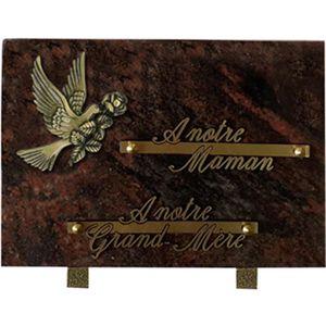 PLAQUE FUNÉRAIRE Magnifique Plaque 17 x 25cm - Plaque COLOMBE