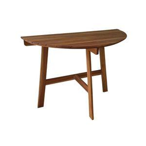 demi table de jardin pliante en acacia fsc longueur 100cm achat vente table de jardin demi. Black Bedroom Furniture Sets. Home Design Ideas