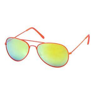 lunettes Pilote couleurs et verres Miroirs-5 coloris Oranges fluo nYsyPyU