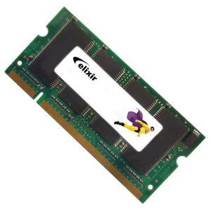 MÉMOIRE RAM 512Mo RAM PC Portable SODIMM Elixir M2S51264DSH8A0