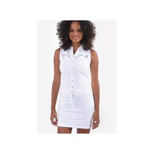 6194c59226ae1 Robe blanc - Achat   Vente pas cher - Soldes  dès le 9 janvier ...