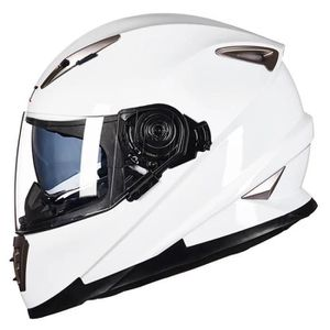 CASQUE MOTO SCOOTER Casque Moto Cross Intégral Double Visière Moto Rac