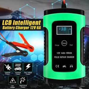 CHARGEUR DE BATTERIE NEUFU 12V Auto Voiture Chargeur de batterie LCD In