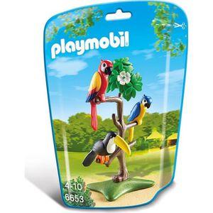 ROBOT - ANIMAL ANIMÉ PLAYMOBIL 6653 - Le Zoo - Perroquets et Toucan