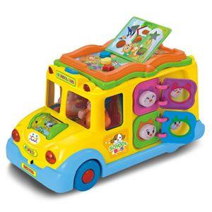 TAPIS DE JEU Electric School Bus, Voiture de musique pour enfan