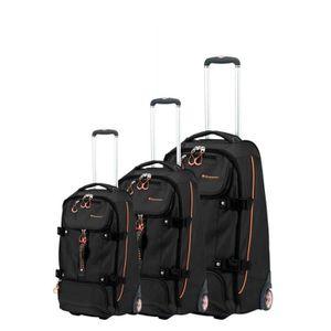SET DE VALISES Set de 3 valises chariot freemoda noir