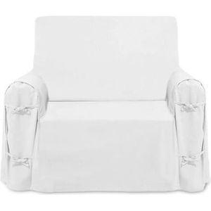 HOUSSE DE FAUTEUIL Housse de fauteuil en coton PANAMA blanc. Unie, cl
