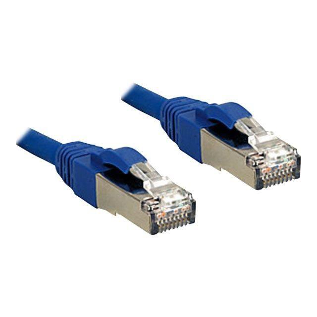LINDY Câble réseau en cuivre - 6A S/FTP - LSOH - 500MHz - 10 m - Bleu