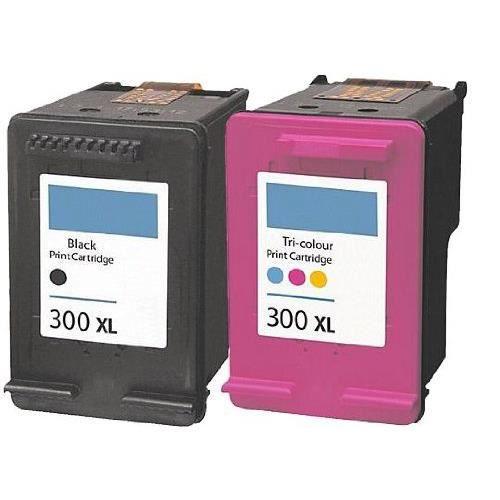 CARTOUCHE IMPRIMANTE Pack 2 cartouches type HP 300 XL noir et couleur 3874e00bffd1