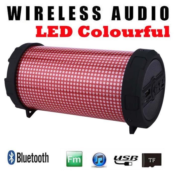 Haut-parleur Bluetooth Portable Led Mini Sans Fil Lecteur De Musique Son Colum @coercoo17