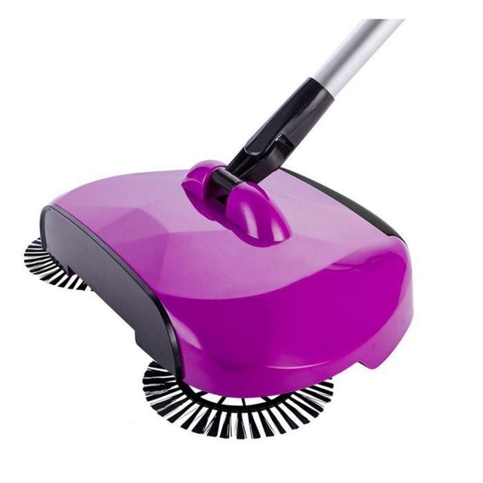 arrivée 360 Rotary Accueil Utilisation manuelle magique télescopique sol balayeuse poussière violet