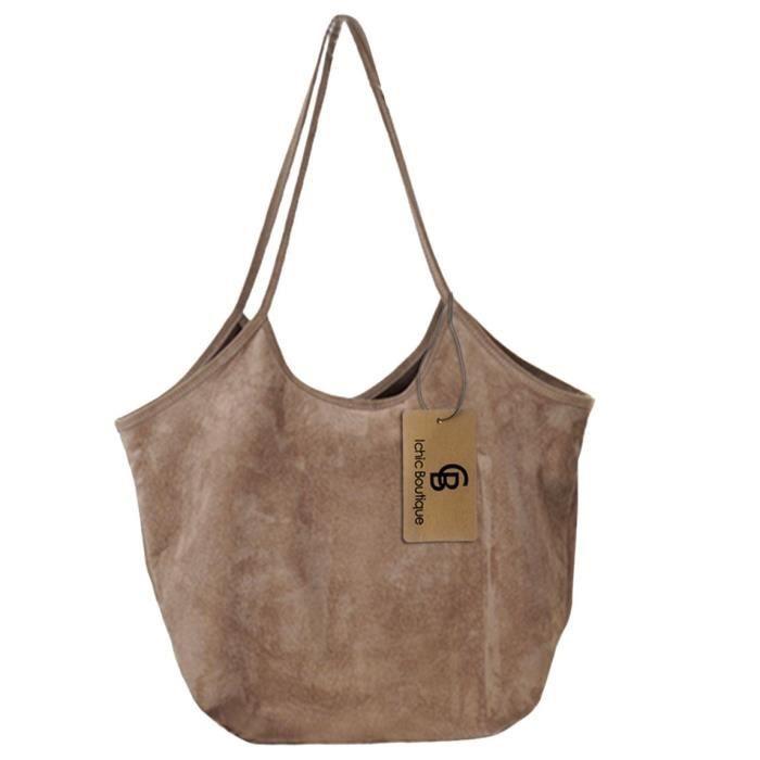 Femmes sac à main fourre-tout Hobo Sacs à bandoulière ultra-léger Doux suède N8EOS