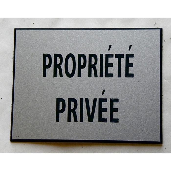 plaque gravée PANNEAU PANCARTE  PARKING PRIVÉ FT 115 X 150 MM