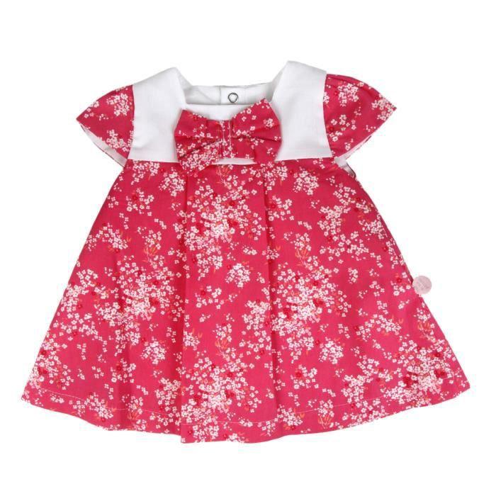 Robe à fleur - bébé fille - rose