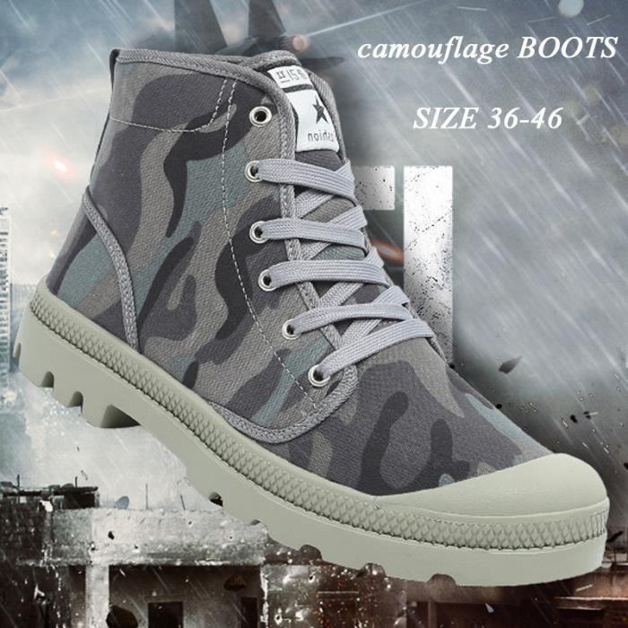 de d'hiver style Chaussures Bottes High Bottes Taille 36 46 Martin britannique Bottines Camouflage neige Hommes Top X4fwtBqn1x