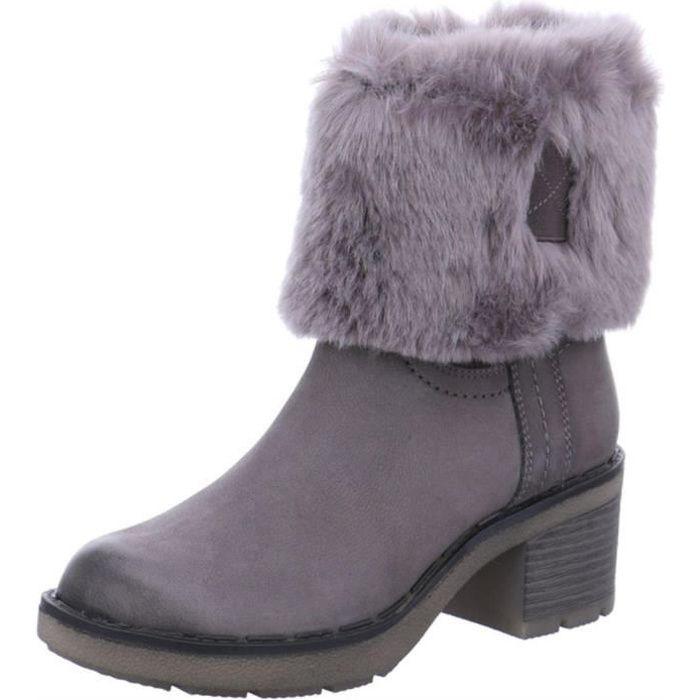 Bottine Femmes Comfortable Antidérapant boots LLT-XZ090Noir38 yTDWb