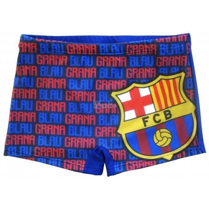 f6d47bf4cf40d Maillot de bain enfants FC Barcelone boxer pour garçons 8 ans fans de Foot  FCB Barça Messi