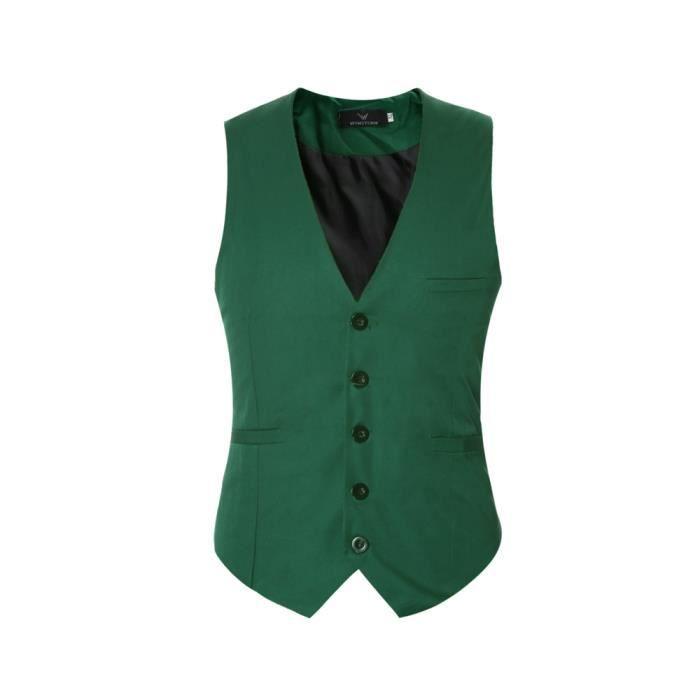 ventes spéciales commander en ligne spécial chaussure Gilet de costume pour homme gilet col v